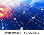 solar power generation... | Shutterstock . vector #567226819