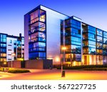 creative abstract house... | Shutterstock . vector #567227725