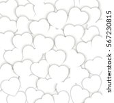 background of white hearts with ... | Shutterstock .eps vector #567230815