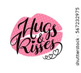 hugs and kisses. valentines day ... | Shutterstock .eps vector #567232975