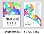abstract vector layout... | Shutterstock .eps vector #567234259