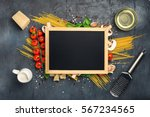small chalk board with copy... | Shutterstock . vector #567234565