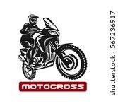 motocross enduro race driver...   Shutterstock .eps vector #567236917