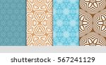 set of modern floral pattern of ... | Shutterstock .eps vector #567241129