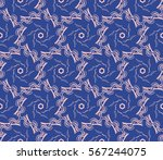 damask floral seamless pattern. ... | Shutterstock .eps vector #567244075