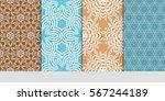 set of vector seamless pattern. ... | Shutterstock .eps vector #567244189