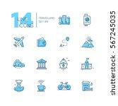 traveling   modern vector line... | Shutterstock .eps vector #567245035