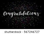 congratulations  modern... | Shutterstock .eps vector #567246727