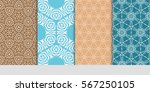 set of seamless texture of... | Shutterstock .eps vector #567250105