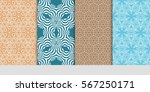 set of seamless texture of... | Shutterstock .eps vector #567250171