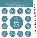 13 icons with shooting sports... | Shutterstock .eps vector #567253015