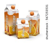 orange juice carton cardboard... | Shutterstock . vector #567253531