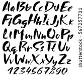 hand drawn font made by dry... | Shutterstock .eps vector #567257731