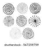 vector ink circle textures.... | Shutterstock .eps vector #567259759
