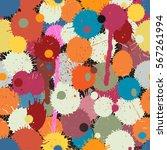 vector seamless tile of... | Shutterstock .eps vector #567261994
