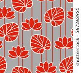 chinese seamless pattern. red... | Shutterstock .eps vector #567263935