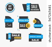gray sale banners. collection... | Shutterstock .eps vector #567265681