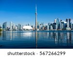 toronto city skyline on clear... | Shutterstock . vector #567266299