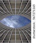 Abstract Architectural Air Wel...