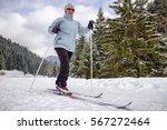 active senior. cross country...   Shutterstock . vector #567272464