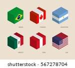 set of isometric 3d boxes with... | Shutterstock .eps vector #567278704