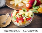 Salad With Fresh Fruits And...