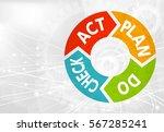 business pdca white background | Shutterstock .eps vector #567285241