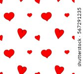 red hearts on white background... | Shutterstock .eps vector #567291235