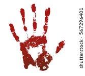 vector bloody handprint | Shutterstock .eps vector #567296401