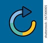 refresh sign icon flat design