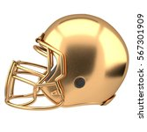 golden american football helmet ... | Shutterstock . vector #567301909
