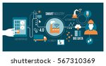 smart industry 4.0  automation... | Shutterstock .eps vector #567310369