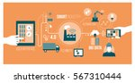 smart industry 4.0  automation... | Shutterstock .eps vector #567310444