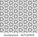 decorative seamless pattern.... | Shutterstock .eps vector #567310909