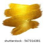 gold foil stroke shining paint... | Shutterstock . vector #567316381
