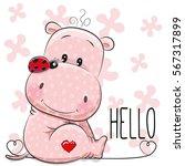 Greeting Card Cute Cartoon Pin...