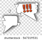 comic speech bubbles with... | Shutterstock .eps vector #567319531
