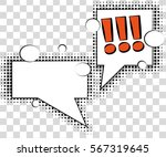 comic speech bubbles with... | Shutterstock .eps vector #567319645