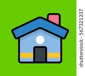 home icon flat design