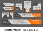 orange web banners. collection... | Shutterstock .eps vector #567322111