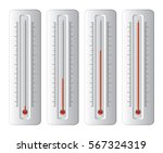 vector set of thermometers at... | Shutterstock .eps vector #567324319