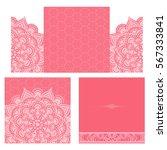 wedding invitation or card .... | Shutterstock .eps vector #567333841