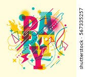 colorful abstract style party... | Shutterstock .eps vector #567335257