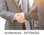 handshake of the two... | Shutterstock . vector #567336241