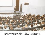 speaker at a business... | Shutterstock . vector #567338041