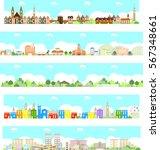 vector city illustration | Shutterstock .eps vector #567348661