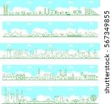vector city illustration   Shutterstock .eps vector #567349855