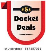 docket deal vector icon...   Shutterstock .eps vector #567357091