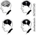 vector illustration of brain...   Shutterstock .eps vector #567357145