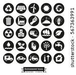 Environmental Issues Icon Set....